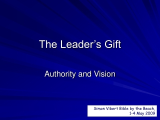 The Leader's Gift