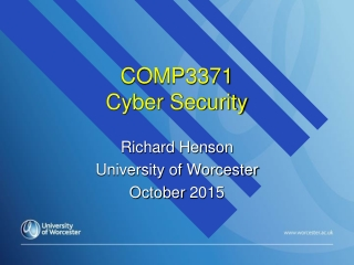 COMP3371  Cyber Security