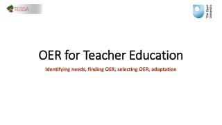 OER for Teacher Education