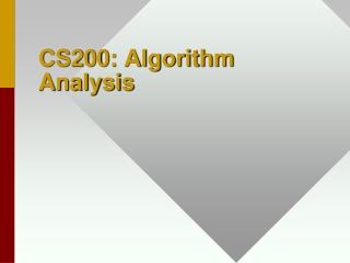 CS200: Algorithm Analysis