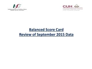 Balanced Score Card Review of September 2015 Data