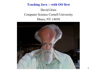 Teaching Java —with OO first