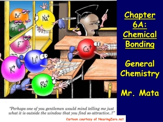 Chapter 6A:  Chemical  Bonding General Chemistry Mr. Mata