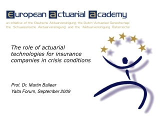 The role of actuarial technologies for insurance companies in crisis conditions