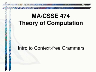 Intro to Context-free Grammars