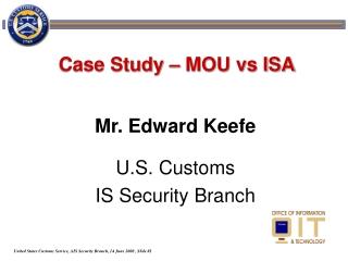Case Study – MOU vs ISA