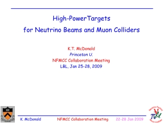 High-PowerTargets for Neutrino Beams and Muon Colliders