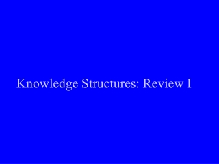 Knowledge Structures: Review I