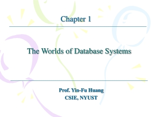 1.1	The Evolution of Database Systems
