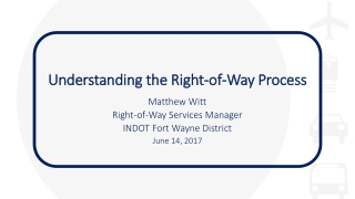 Understanding the Right-of-Way Process