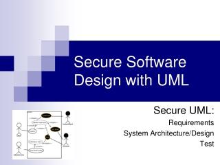 Secure Software Design with UML