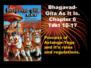 Bhagavad-Gita As It Is. Chapter 6 Text 10-17