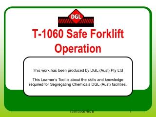 T-1060 Safe Forklift Operation