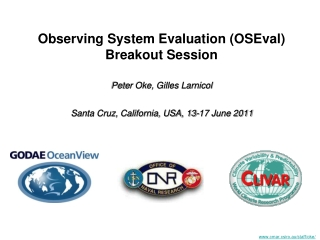 Observing System Evaluation (OSEval) Breakout Session
