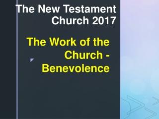 The New Testament Church 2017