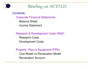 Briefing on ACT3121