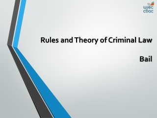 Rules and Theory of Criminal Law Bail
