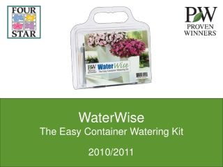 WaterWise The Easy Container Watering Kit