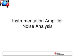 Instrumentation Amplifier Noise Analysis