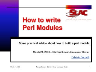 How to write  Perl Modules