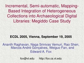 ECDL 2005, Vienna, September 19, 2005