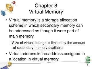 Chapter 8 Virtual Memory