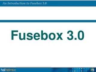 Fusebox 3.0