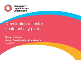 Developing a sector sustainability plan