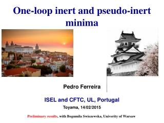 One-loop inert and pseudo-inert minima