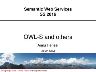 Semantic Web Services SS 2016