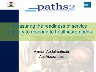 Ayman Abdelmohsen  Abt Associates