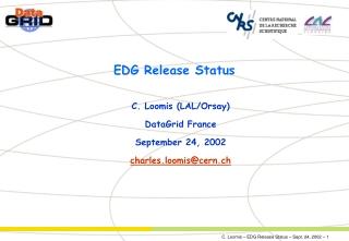 EDG Release Status