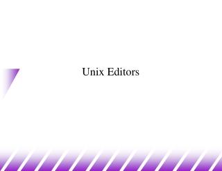 Unix Editors