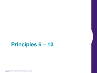 Principles 6 – 10