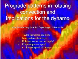Prograde patterns in rotating convection and  implications for the dynamo