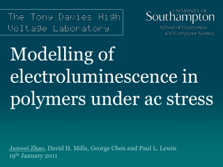 Modelling of electroluminescence in polymers under ac stress
