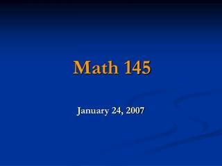 Math 145