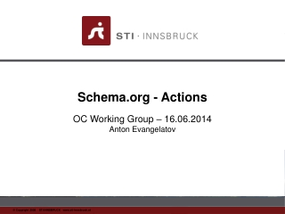 Schema - Actions OC Working Group – 16.06.2014 Anton Evangelatov