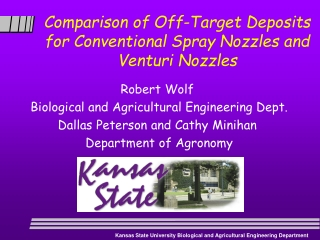 Comparison of Off-Target Deposits for Conventional Spray Nozzles and Venturi Nozzles