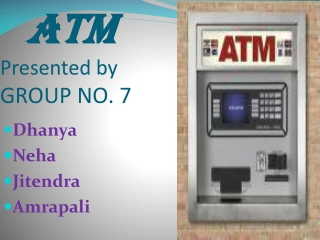 ATM Presented by GROUP NO. 7