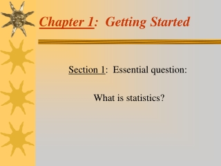 Chapter 1 :  Getting Started