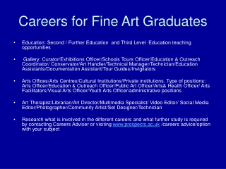 Careers for Fine Art Graduates