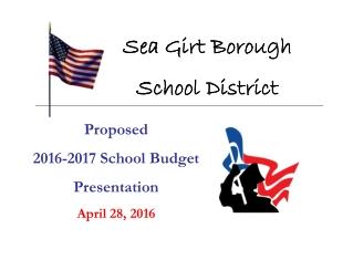Proposed  2016-2017 School Budget  Presentation April 28, 2016