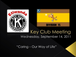 Key Club Meeting