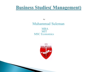 Business Studies( Management)