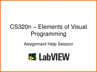 CS320n – Elements of Visual Programming