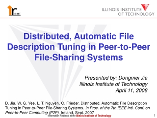 Distributed, Automatic File Description Tuning in Peer-to-Peer File-Sharing Systems