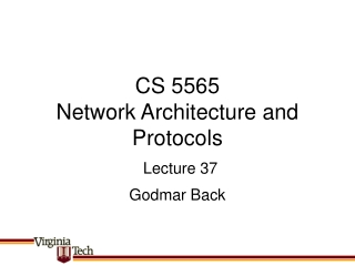 CS 5565 Network Architecture and Protocols