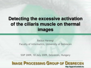 D etecting the excessive activation of the ciliaris muscle on thermal images