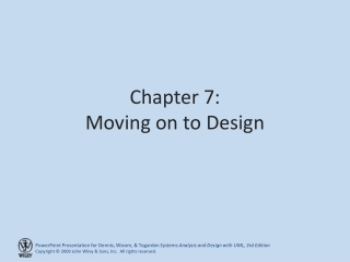 Chapter 7: Moving on to Design